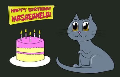Happy Birthday MasaeAnela! by kevinj2010