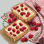 Cranberry white chocolate crispy tart