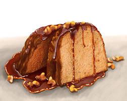 Walnut rum cake by DesigningLua