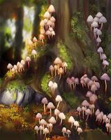 Mushroom village by DesigningLua