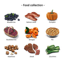 Food collection 3 by DesigningLua