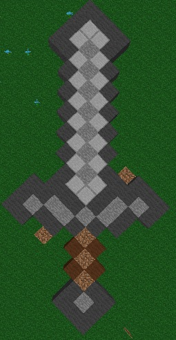 Minecraft Block Art : Stone Sword by MelodyoftheNightFury ...