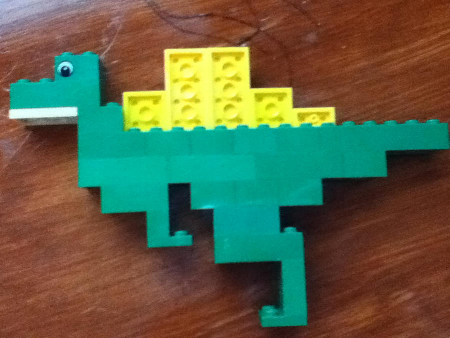 My first spinosaurus in lego by melodyofthenightfury on - Lego spinosaurus ...