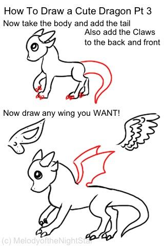 How To Draw a Cute Dragon Pt.3 by MelodyoftheNightFury on ...
