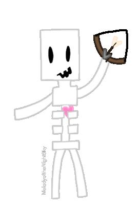 Kawaii Minecraft Skeleton by MelodyoftheNightFury on ...  Minecraft Cute Skeleton