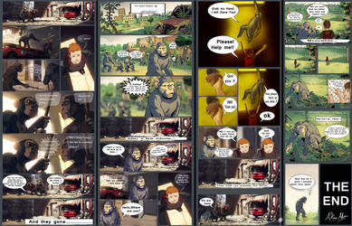 Planet Of Apes Comic Fences by AkiraAlion