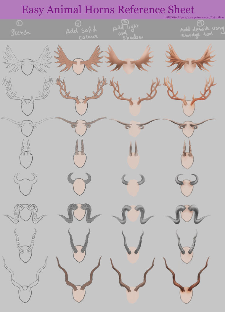 Horns Reference Sheet by AkiraAlion
