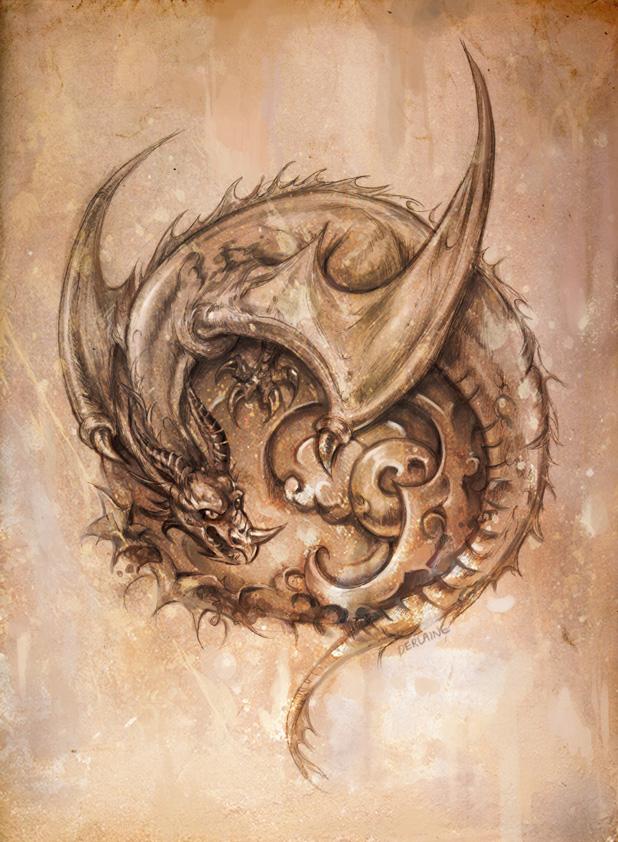 Dragon by Derlaine8