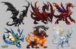 Dragon Designs by Derlaine8