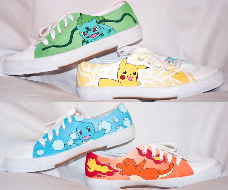 Pokemon Shoes by HungryxHungryxHippos