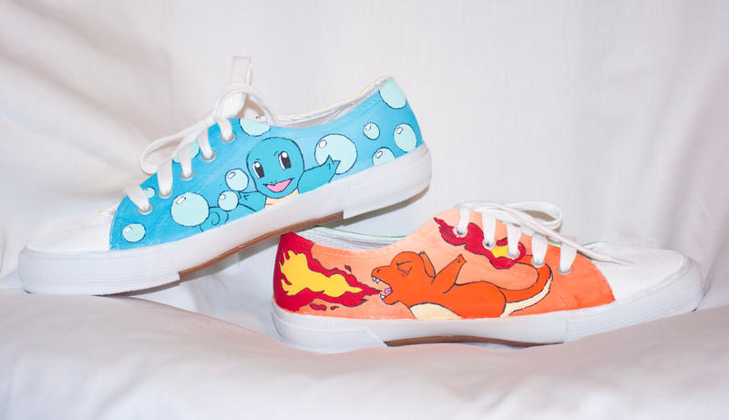 Pokemon Tie Up Shoes by HungryxHungryxHippos