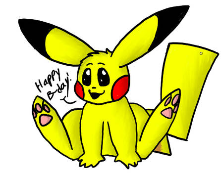 happy birthday pikachu!