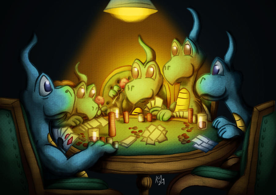Dragons Playing Poker by Kmadden2004