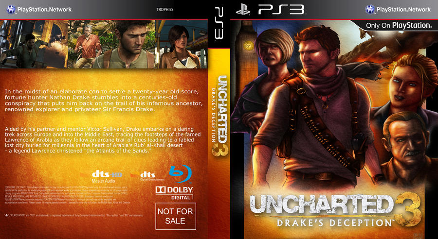 Uncharted 3 Custom Cover By Kmadden2004 On Deviantart