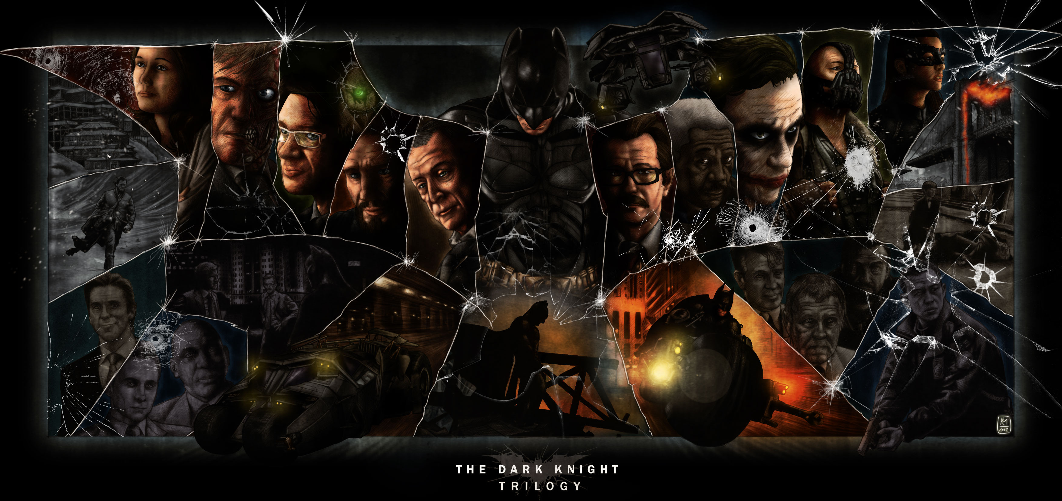 The Dark Knight Trilogy by Kmadden2004