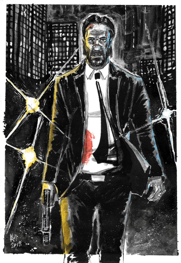 Weekly Sketches: John Wick by Kmadden2004