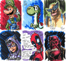 Weekly Sketches: Sketchcards 2 by Kmadden2004