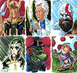 Weekly Sketches: Sketchcards 3 by Kmadden2004