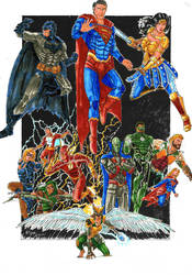 Justice League (Traditional Colour) by Kmadden2004