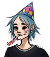 Happy Birthday 2-D!! by softdumpling