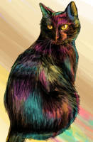 Rainbow Cat Speedpaint by viennalerough
