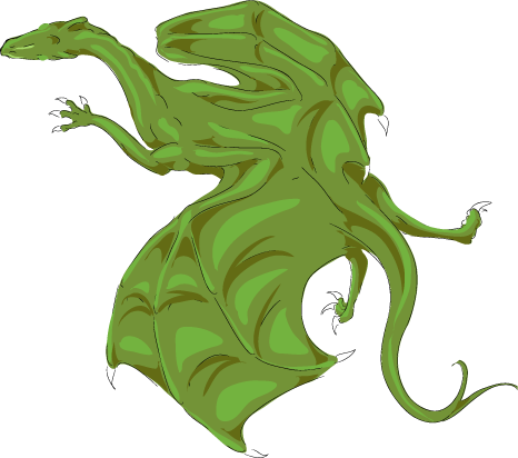 Dragon Information Pern_Color_Test__Green_by_Kaljaia