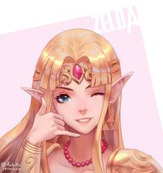 Call me maybe - Princess Zelda fanart by AztoDeus