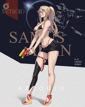 Summer Samus Aran fanart