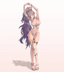 Summer Ishtar - Fire Emblem by AztoDeus