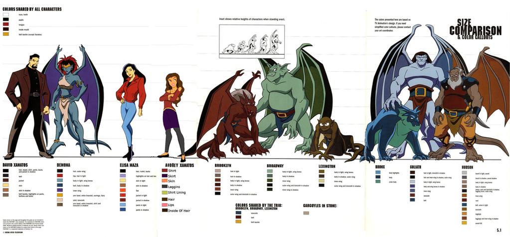 Gargoyles Lineup by Whispers-Gargoyle