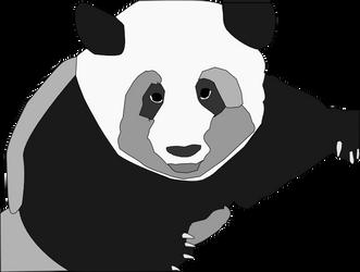 Panda Grayscale by cayleem2