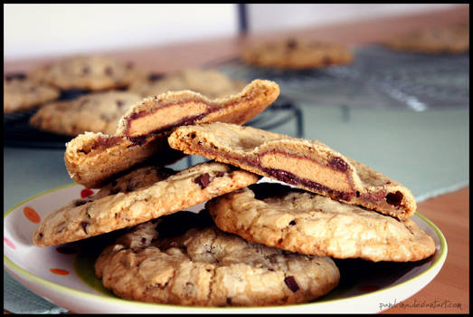 Reese's stuffed giant, chewy chocolate chip cookie