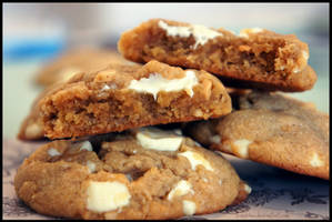 Soft Peanutbutter White Chocolate Cookies