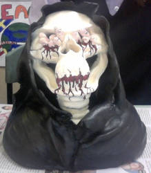 Death / Grim Reaper Sculpture (painted) by MagnificentCookie