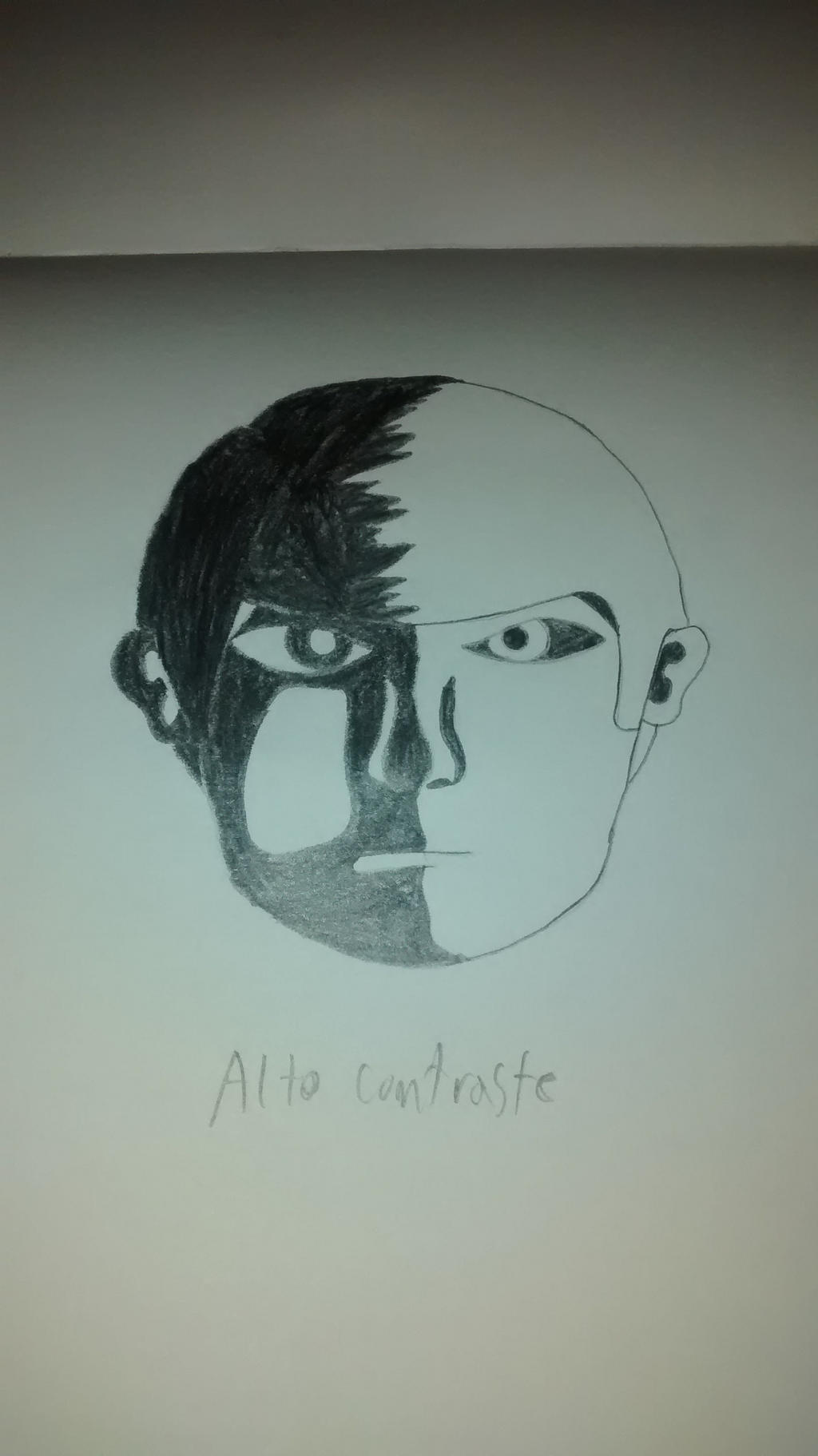 High contrast face by Liyito