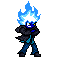 Blue Flame 16 bit sprite by Liyito