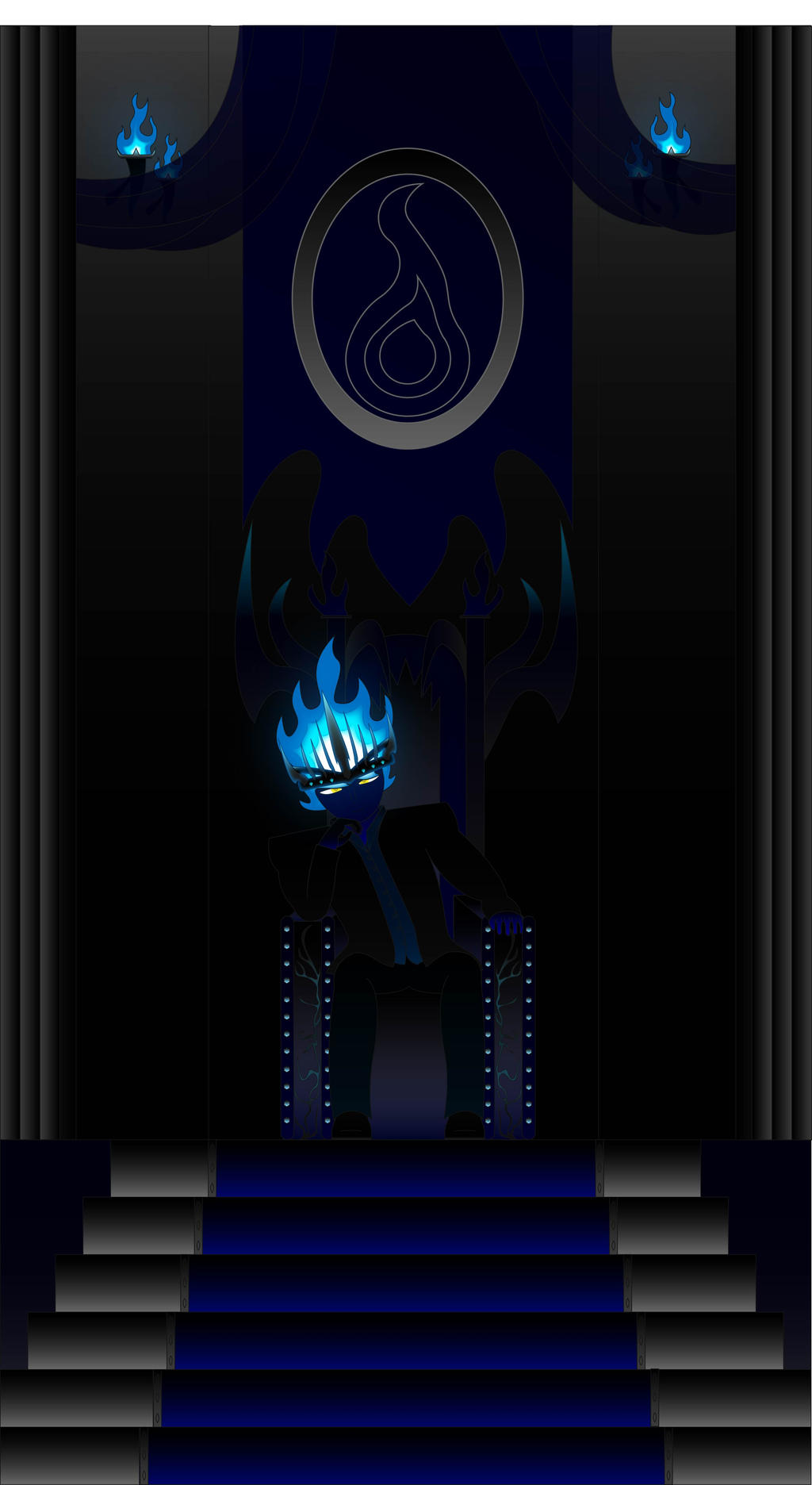 Evil king Blue Flame by Liyito