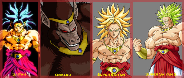Broly Transformations by leo404 on DeviantArt