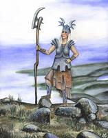 Warrior maiden by Astalo