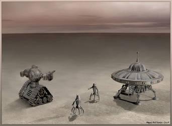 Encounter in the desert by Astalo