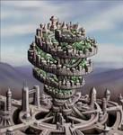 Strange cities 1 - Spiral tree