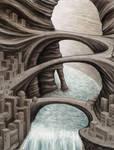 Strange cities 3 - Canyon city by Astalo