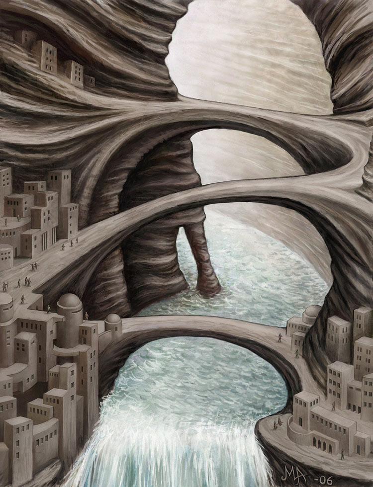 Strange cities 3 - Canyon city by Astalo