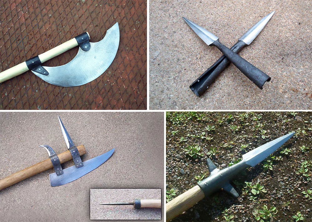 Medieval pole weapons by Astalo