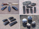 Stone axes and maceheads