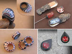 Stone and acrylic jewelry