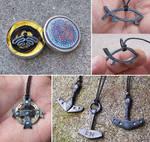 Forged steel pendants 2