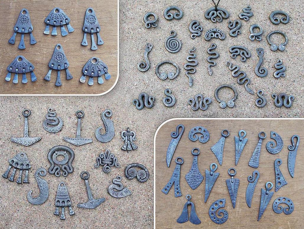 Forged steel pendants 3 by Astalo