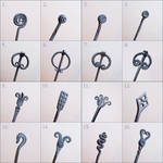 Hair pin designs