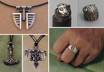 Silver jewelry 2 by Astalo